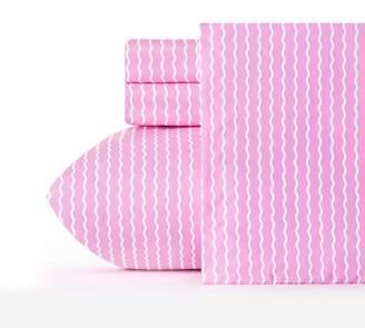 Crayola Serpentine Striped Microfiber Sheet Set Light Pink