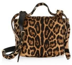 Elena Ghisellini Small Leather Crossbody Flap Bag