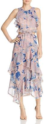 Red Carter Camila Ruffled Cutout Dress