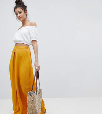 Asos Tall DESIGN Tall crinkle maxi skirt with box pleat