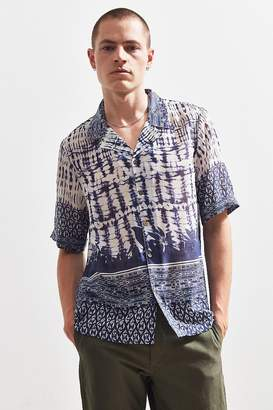 Raga Man Voile Short Sleeve Button-Down Shirt