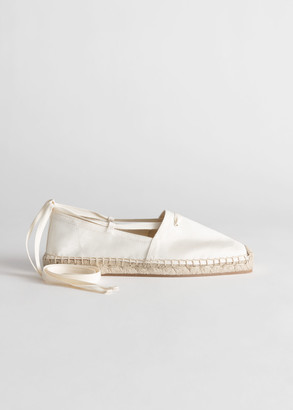 And other stories Square Toe Lace Up Espadrilles