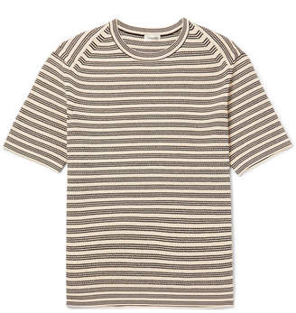 Camoshita Slim-Fit Striped Ribbed Cotton Sweater