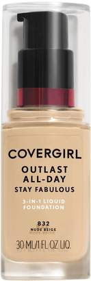 Cover Girl Outlast All-Day Stay Fabulous 3-in-1 Foundation - Packaging May Vary
