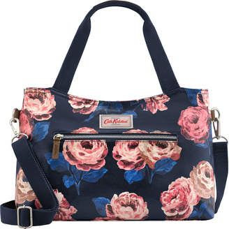 Cath Kidston Beaumont Rose Zipped Handbag With Detachable Strap