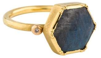 Brooke Gregson 18K Labradorite & Diamond Cocktail Ring