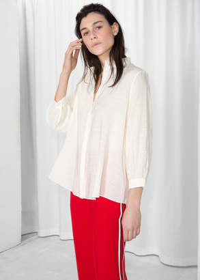 And other stories Relaxed Ruffle Collar Blouse