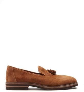 Brunello Cucinelli Tassel suede loafers