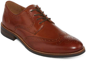 STAFFORD Stafford Mason Mens Leather Wingtip Oxford Dress Shoes