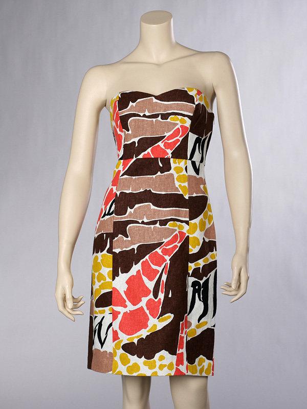 Tibi Congo Strapless Dress
