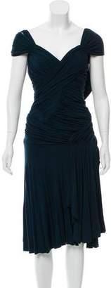 Donna Karan Draped Open Back Dress