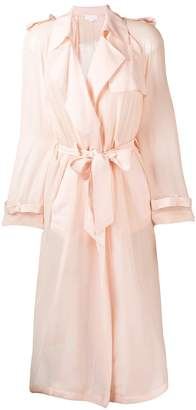 Genny sheer belted trench coat