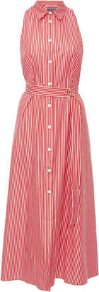 MDS Stripes Exclusive Belted Cotton Midi Shirtdress