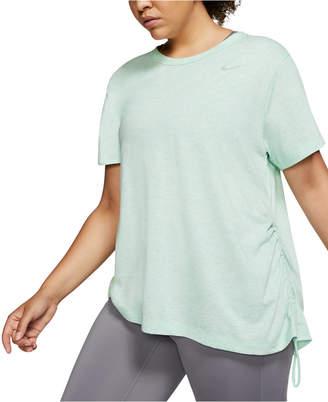 Nike Plus Size Miler Short-Sleeve Running Top
