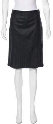 Theory Wool Striped Skirt