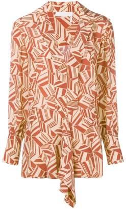 Chloé geometric print blouse