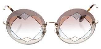 Miu Miu Heart Tinted Sunglasses
