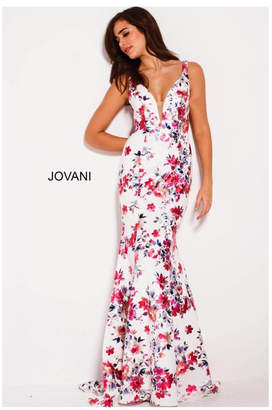 Jovani Floral Prom Gown
