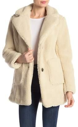 Sebby Notch Lapel Faux Shearling Jacket