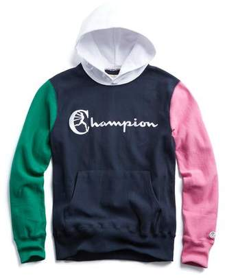 Todd Snyder + Champion Champion Colorblock Hoodie in Navy