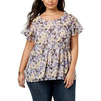 Lucky Brand Women's Plus Size Floral TOP