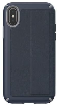Speck Blue\u002FGrey iPhone XS\u002FX Presidio Folio Case