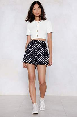 Nasty Gal Hit the Nail On the Head Polka Dot Shorts