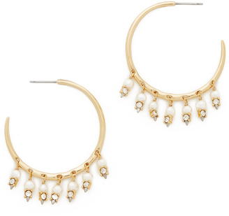Alexis Bittar Crystal Lace Chandelier Hoop Earrings $175 thestylecure.com