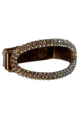Rebel Designs Leather Diamond Bracelet $109 thestylecure.com