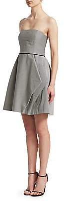 Halston Women's Striped Strapless Dress