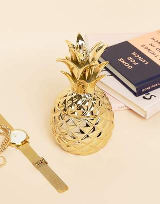 Sass & Belle Gold Pineapple Jewelry Dish