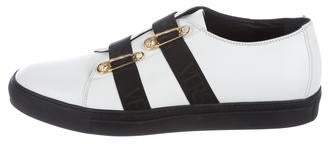 Versus Safety Pin Leather Sneakers