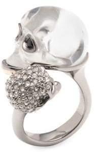 Alexis Bittar Crystal Double Skull Ring