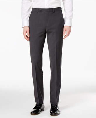Bar III Men's Skinny Fit Stretch Wrinkle-Resistant Charcoal Suit Pants