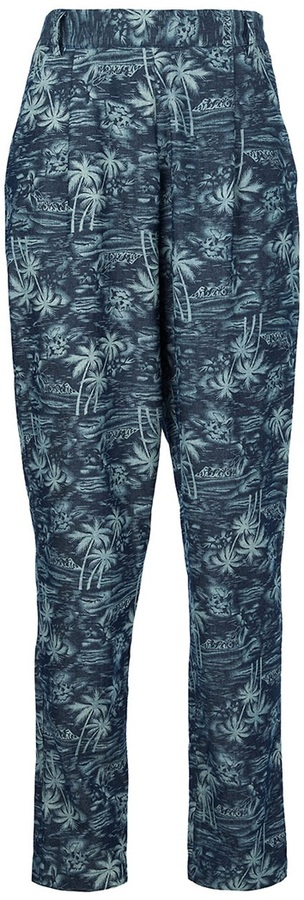 Labour Of Love palm-tree print trouser