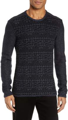 John Varvatos Mix Stitch Regular Fit Cotton Blend Sweater