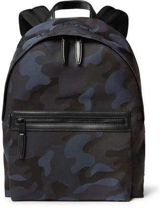 7ebd6d7d81 Free Standard Delivery at MR PORTER · Mulberry Leather-Trimmed  Camouflage-Print Canvas Backpack