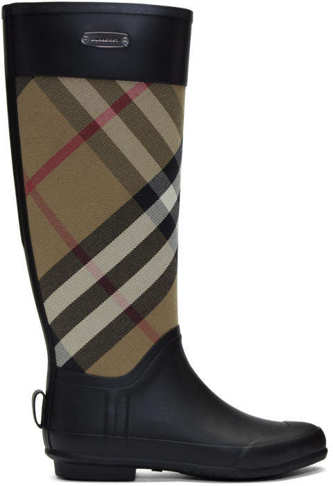 Burberry Black Simion Rain Boots