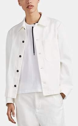 Barena Venezia Men's Stretch-Cotton Drill Shirt Jacket - White