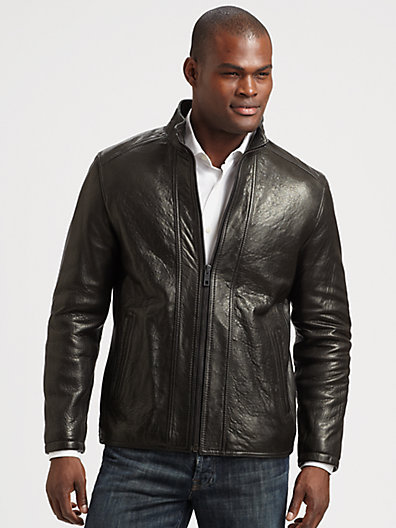 Andrew Marc New York French Rugged Leather Jacket