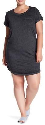 Planet Gold Scoop Neck T-Shirt Dress (Plus Size)