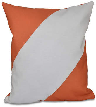E By Design 16 Inch Coral Decorative Striped Throw Pillow