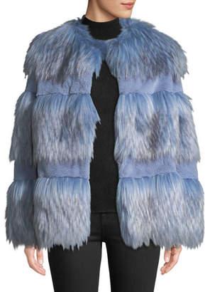 Baldan Amanda Paneled Faux-Fur Chubby Coat
