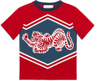 Children's cotton t-shirt with tiger and 25 print $135 thestylecure.com