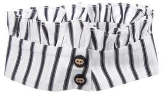 Caroline Constas Striped Pleated Collar