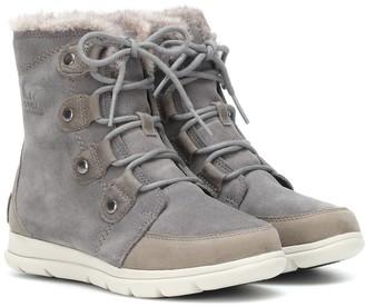 Sorel Explorer Joan suede boots