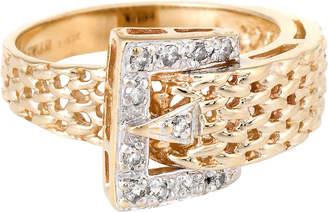 One Kings Lane Vintage Le Vian 14K Gold & Diamond Buckle Ring - Precious & Rare Pieces