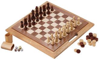 MAINSTREET CLASSIC Mainstreet Classics 3In1 Wood Game Chess CheckersBackgammon