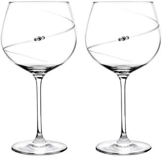 Portmeirion Auris Gin Glasses With Swarovski Crystals - Set Of 2