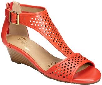 Aerosoles Low Wedge Gladiator Sandals - Sapphire